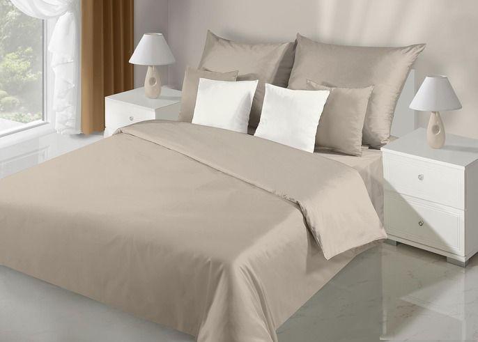 Saténová posteľná obliečka Nova béžova