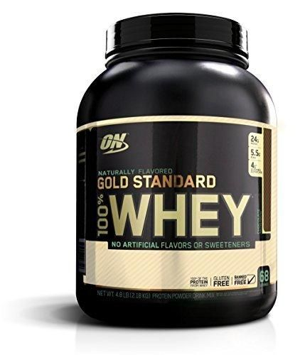 Optimum Nutrition Gold Standard 100% Whey Protein Powder Naturally Flavored Chocolate 4.8 Pound