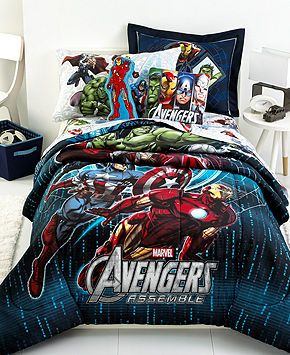 Jay Franco Bedding, Avengers Comforter Sets - Kids' Bedding - Bed & Bath - Macy's, yes please! lol