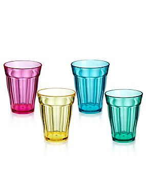 Brights 4 Acrylic Soda Tumbler Glasses  sc 1 st  Pinterest & 130 best CWS ? Stylish PicNic u0026 Tableware images on Pinterest ...
