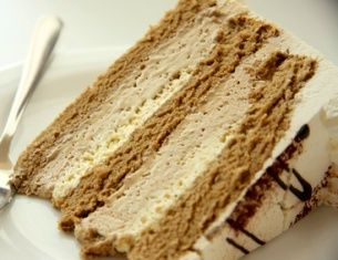 Kona Coffee Cream Cake w/Whipped Cream Frosting