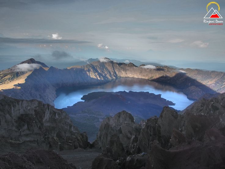 Looking down from the summit of Mt Rinjani: 3726m / 12,224ft. www.rinjanidawnadventures.com