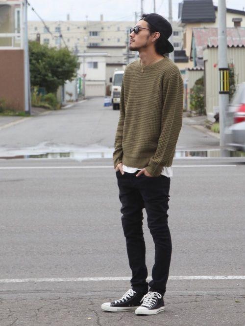 ご覧頂きありがとうございます! 本日は新作セーターで シンプルにちょっと外国人っぽい感じをイメージし