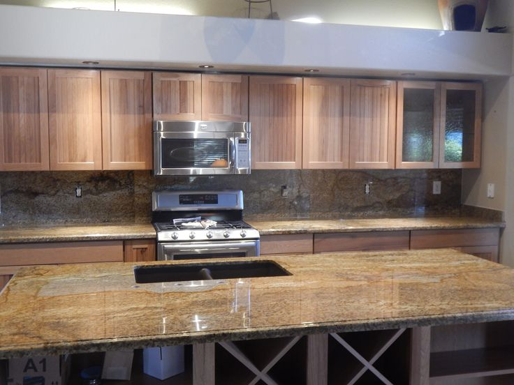 Copper Canyon Granite Countertop Remodel With Ogee Edge
