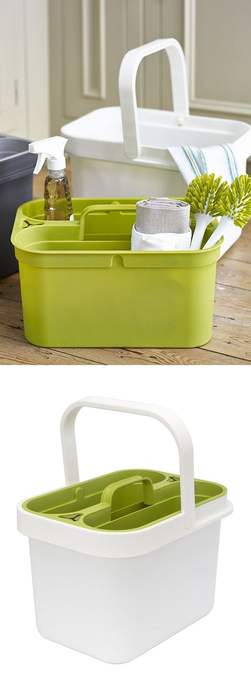 Clean + Store - bucket with conveneint removable caddy