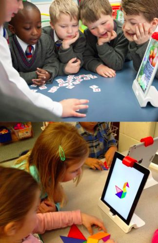 Teachers, revolutionize your classroom with Osmo! Osmo works with iPad and lets kids learn while playing outside of the screen. Games are designed for your classroom. Create a custom experience that promotes physical interaction, collaboration and fun.
