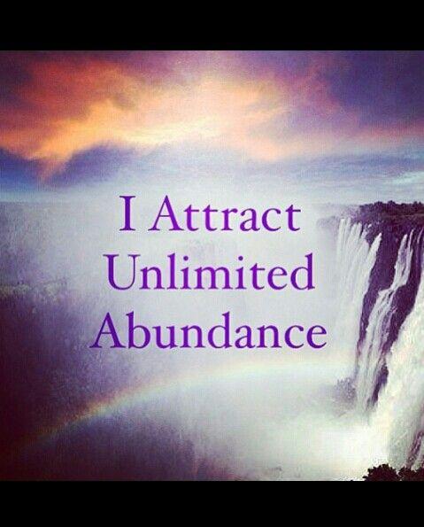 I Attract Unlimited Abundance <3