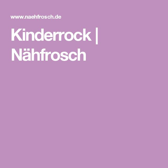 Kinderrock | Nähfrosch