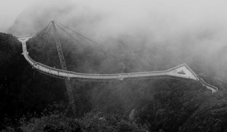 Langkawi Sky Bridge is curved 125 meters long cable-stayed pedestrian bridge. It's located 700 masl on the Langawi Island. You can eulogize over the view of Andaman Sea.