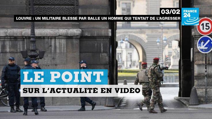 Attaque à la machette au #Louvre à #Paris, hommage national aux victimes au #Canada, Washington prend ses distances avec #Israel, #Merkel en #Turquie... Le point sur l'actualité en VIDÉO