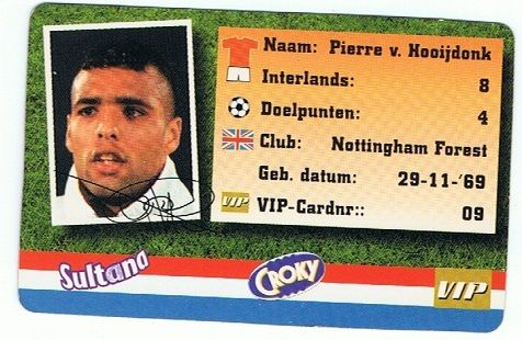 VIP-card. Van Croky + Sultana. 1998. Pierre van Hooijdonck.