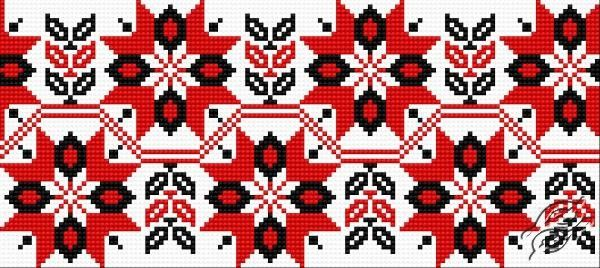 Ukrainian Embroidery - Ornament 97 - Free Cross Stitch Pattern