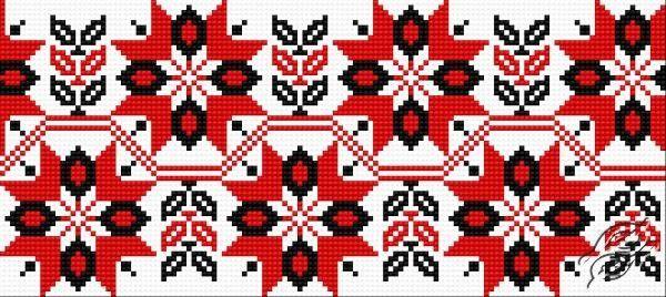 Ukrainian Embroidery - Ornament 97 - Free Cross Stitch Pattern