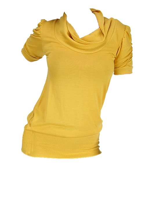 Gold cowl neck top - $20