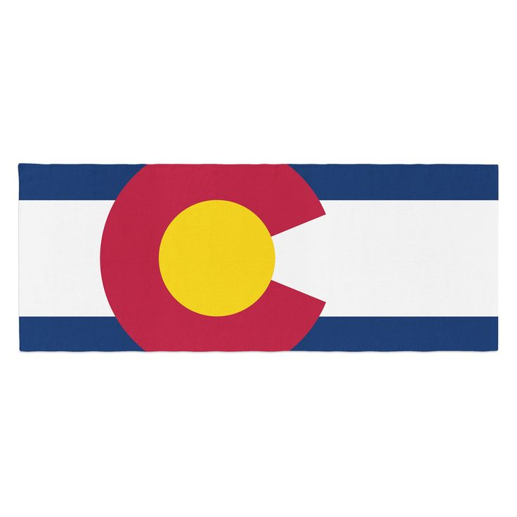 Bruce Stanfield Flag of Colorado II Bed Runner by Kess InHouse - BS1021ABR01