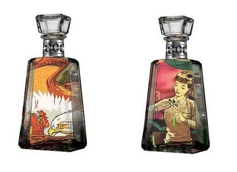 Botellas de Tequila 1800