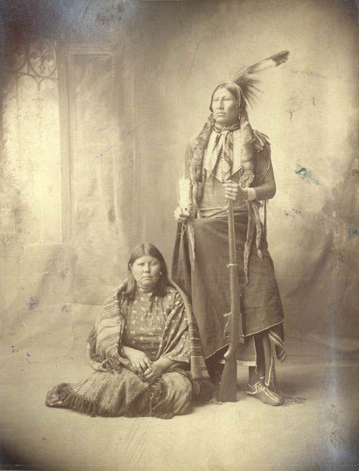 Kiowa Chief Chavi with Wife
