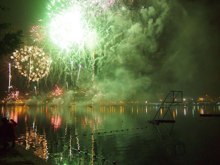 Fogo de artificio. Festas da Rainha Santa Coimbra