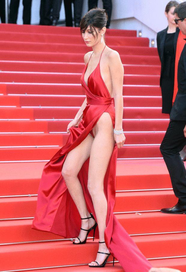 EN IMAGES. Cannes 2016 : Bella Hadid met le feu aux marches - La Parisienne