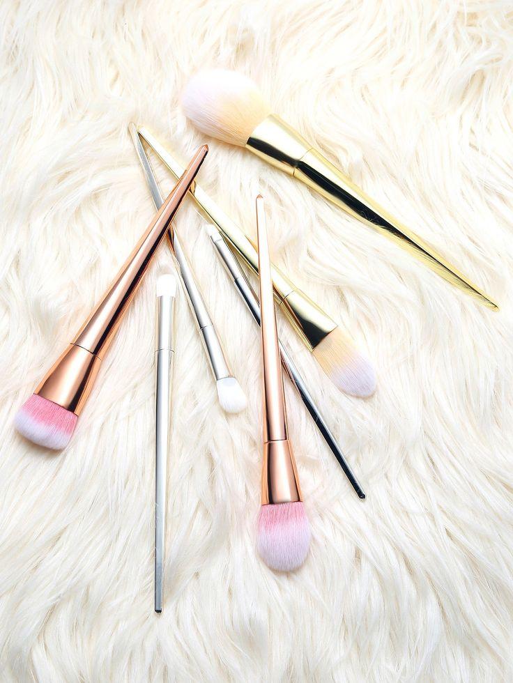 Multicolor Professional Makeup Brush Set 7Pcs