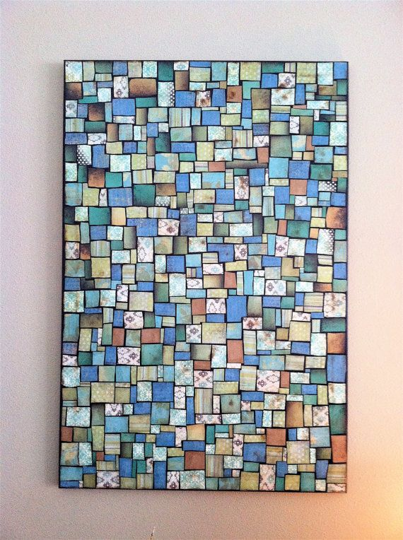 Paper mosaic art by TheMuffincupBoutique on Etsy, $350.00