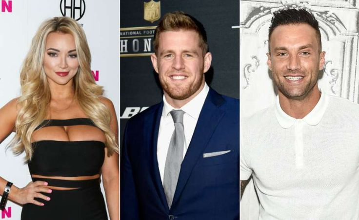Rumor has it that model Lindsey Pelas (left), who famously said she wanted to date J.J. Watt (center) last year, is now dating TV personality Calum Best (right). >>KEEP CLICKING FOR STARS WE THINK J.J. WATT SHOULD DATE.