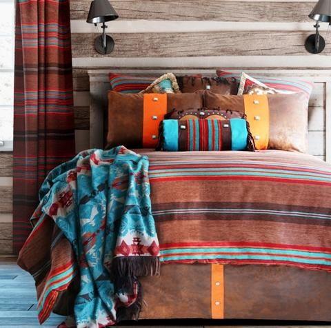 "(CARJB6109) ""Canyon View"" Western 5-Piece Bedding Set - Queen"