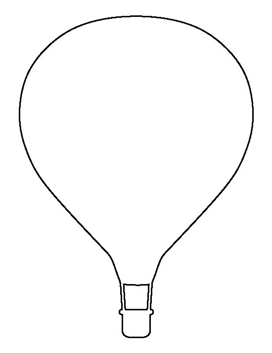 Hot Air Balloon Pattern Use The Printable Outline For Crafts