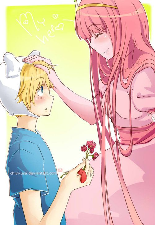 Princess Bubblegum and Finn (Adventure Time) | Fan Art