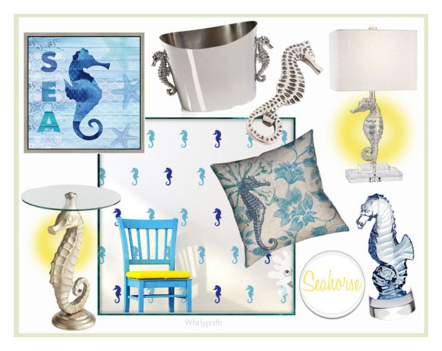 Seahorse by whirlypath on Polyvore featuring interior, interiors, interior design, home, home decor, interior decorating, Pier 1 Imports, Zodax, Star Home Designs and Green Leaf Art