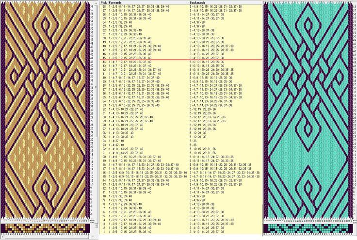 40 tarjetas, 3 / 2 colores, repite cada 44 movimientos // sed_649a diseñado en GTT༺❁