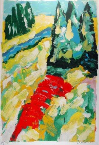 Jan Cremer - Fiume Azzuro - Zeefdruk / Silkscreen print