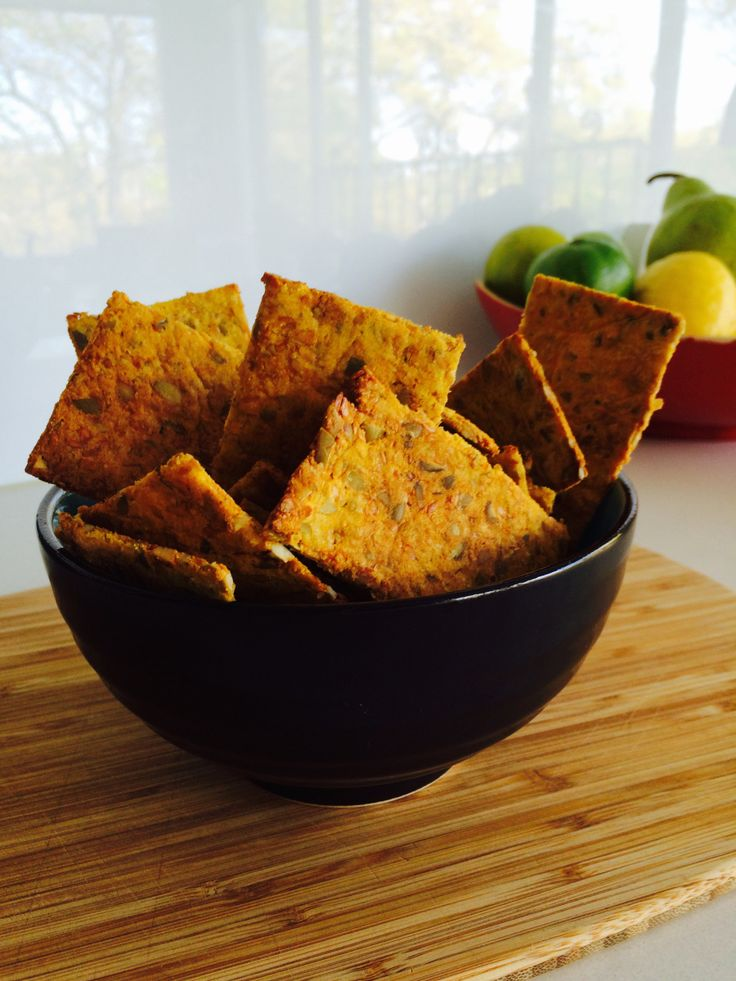 These crispy pumpkin crackers are an evolution from our Almond & Sesame Cracker recipe and a golden ray of glorious sunshine for every occasion! Great for after the gym, to pop into your lunchb...