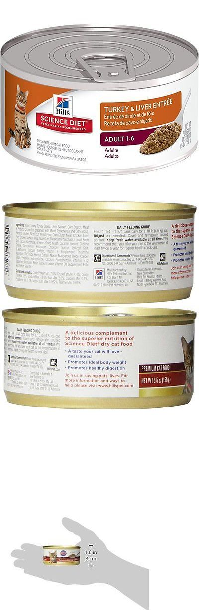 Cat Food 63073: Hills Science Diet Adult Minced Cat Food, 24-Pack, Turkey And Liver, 5.5 Oz Cans BUY IT NOW ONLY: $31.48