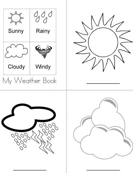 Write the weather word on the line. Weather Book from TwistyNoodle.com