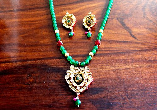 Kundan Necklace and Earring Set Design 2 – Desically Ethnic