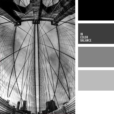 blanco y gris, color gris plateado, gama de colores monocromática, gris claro, gris oscuro, gris y negro, monocromo, negro, negro y blanco, paleta de colores monocromática, paleta del color gris monocromática, paleta monocromática, tonos grises.