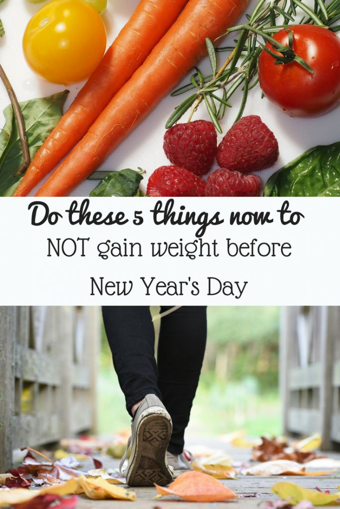 Did you know the average person gains 8 pounds in the 6 weeks before Christmas? Here's how you can NOT gain weight this year.
