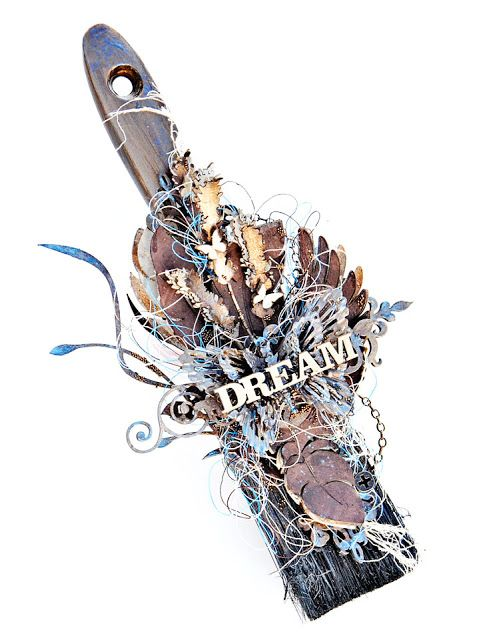 The Dusty Attic Blog: Altered Paintbrush - Joanne Bain