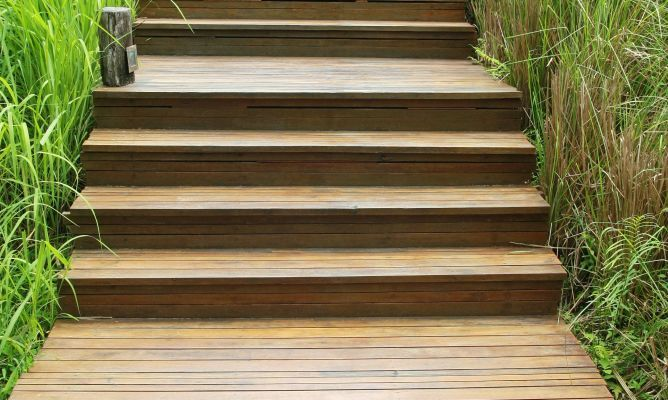 Tratamiento antideslizante para escaleras de exterior for Tratamiento madera exterior