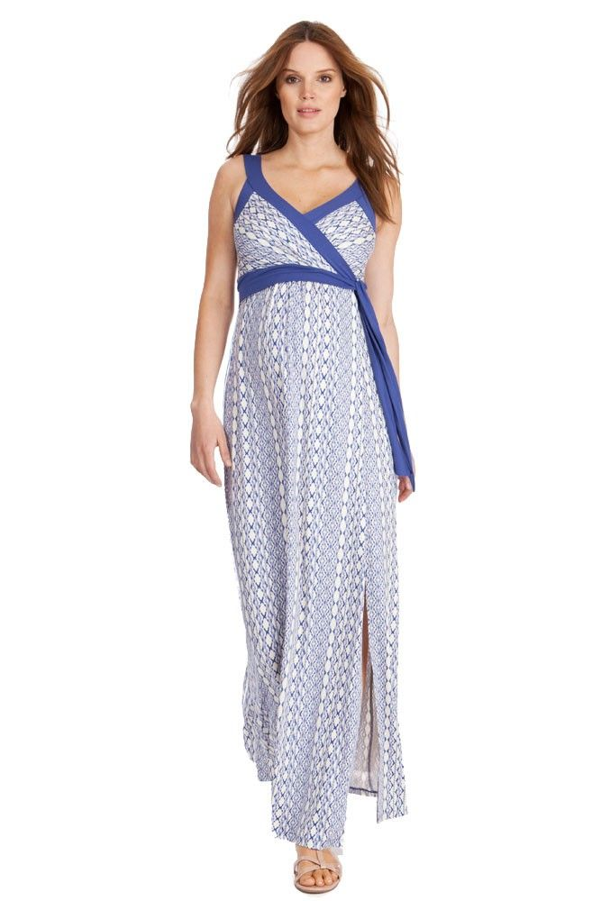 Seraphine Addelyn Aztec Maternity Dress in Ocean. Please use coupon code NewProducts to receive 15% off these items. To receive the discount, please place your order by midnight Monday, April 20, 2015