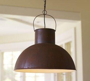 Mansfield Barn Industrial Pendant - traditional - pendant lighting - Pottery Barn