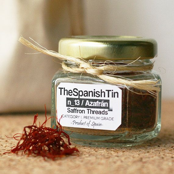 Spanish Saffron Threads, 1 gram, Category 1, Top Grade by TheSpanishTin