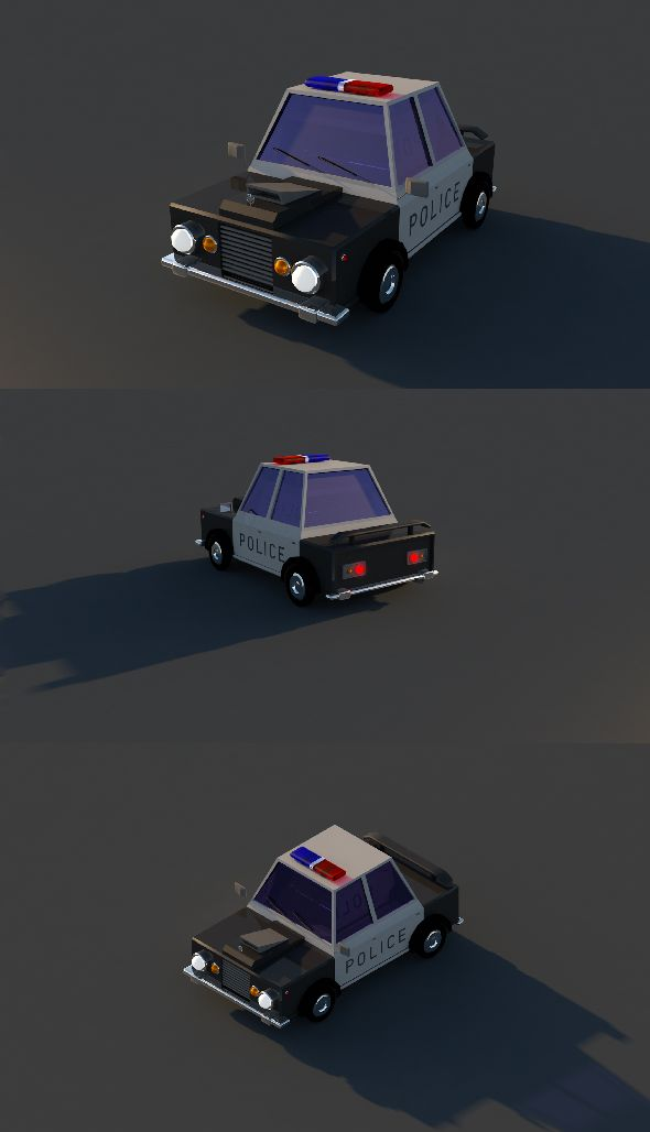 Low Poly Police Car With Images Police Truck Police Cars Low