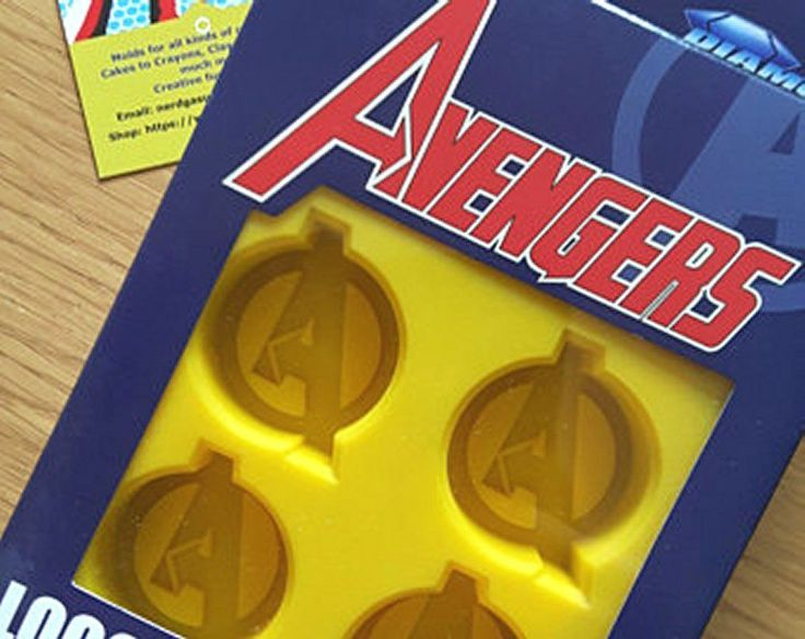 Party Fun! Marvel Avengers Logo Silicone Ice Cube Tray, Jello  & Chocolate Mold #DST
