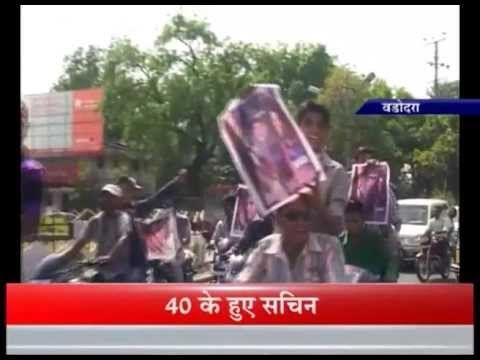 Tendulkar's Birthday - Baroda Fans takeout Bike Rally