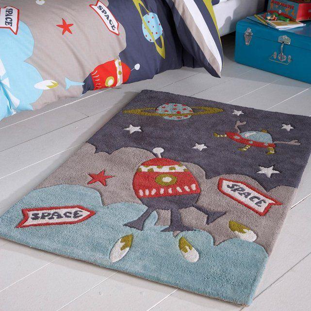 Tapete estrela para criança, tuft de algodão, 2 tamanhos, Milo La Redoute Interieurs (Azul-tinta)