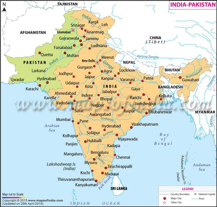 India Pakistan Map