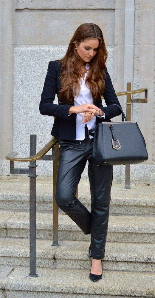 suit with leather pants