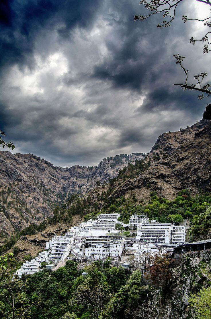 Abode of the divine mother.   The Vaishno Devi Temple, Jammu and Kashmir.